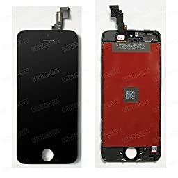 High Quality Full LCD Display Glass Touch Screen Digitizer Assembly Replacement Part for Iphone 5c (black)