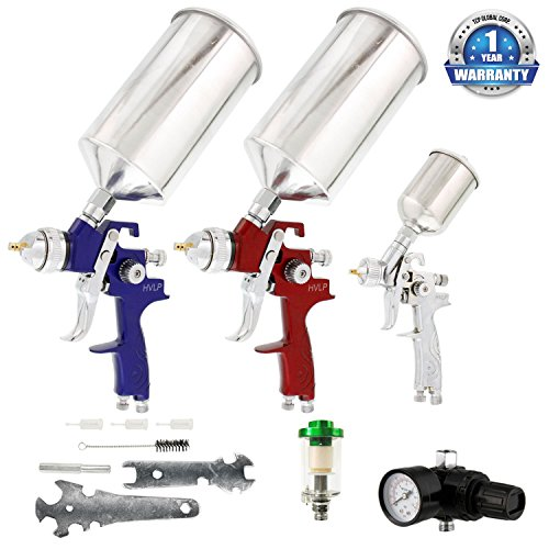 tcp-global-brand-hvlp-spray-gun-set-3-sprayguns-with-cups-air-regulator-maintenance-kit-for-all-auto