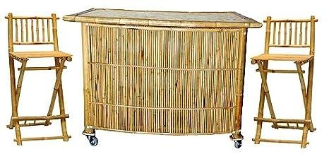 3 Piece Set with Bamboo Tiki Bar