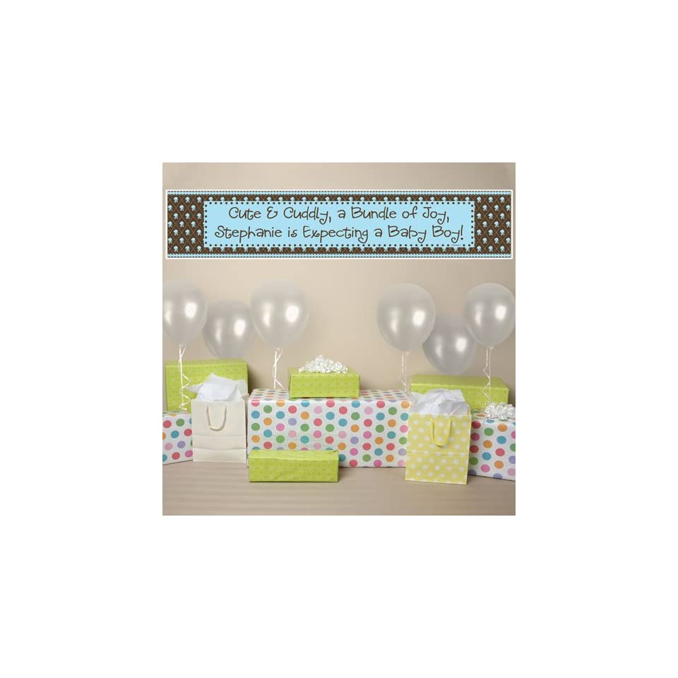 Banner   Modern Baby Boy Personalized Baby Shower Banner