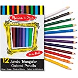 Melissa & Doug Jumbo Triangular Colored Pencils, Set of 12
