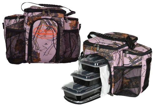 Isobag 3 Meal Management System Mossy Oak Edition/Full Camouflage (Mossy Oak Pink)Insulated Lunch Box/Bag