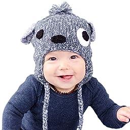 Huggalugs Boys or Girls Scruffy Puppy Dog Beanie Hat Small (0-6m)