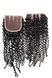 Gold Rose Beauty Bleached Knots Lace Closure Top Quality Brazilian Virgin Curly Wave Human Hair Extensions Swiss Lace 4