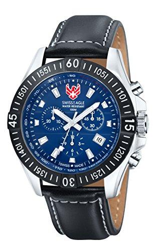 Swiss Eagle SE-9020-01 - Reloj para hombres, correa de cuero