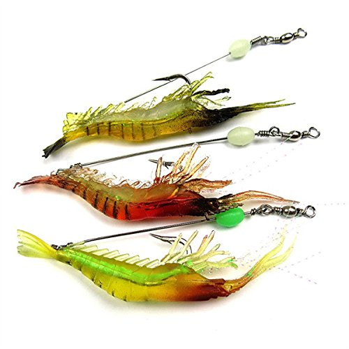 Manufacturing unit Direct Sale Cushy Bait Biomimetic Fishing Trap Hook Bionic Shrimp Noctilucent Glow Fishing Take on Trap Bait Crankbait 18cm