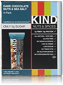 KIND Nuts & Spices Bars, Dark Chocolate Nuts & Sea Salt, 4 Count