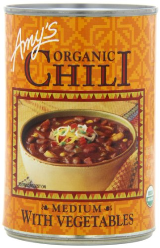 Amy's Organic Chili, Medium with Vegetables, 14.7 Ounce (Pack of 12) (Amy Organic Chili compare prices)