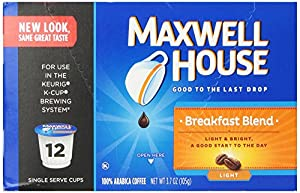 Maxwell House Cafe Breakfast Blend Coffee Pods, 12 Count