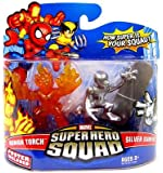 Marvel Superhero Squad Series 13 Mini 3 Inch Figure 2-Pack Human Torch and Si...