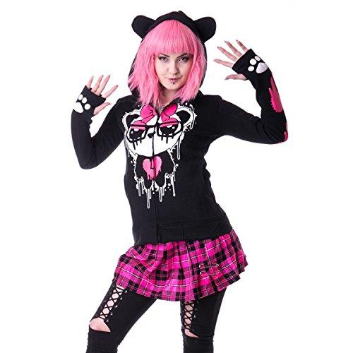 Killer Panda -  Felpa con cappuccio  - Maniche lunghe  - ragazza Black M