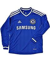 2013-14 Chelsea Adidas Home Long Sleeve Shirt (Kids)