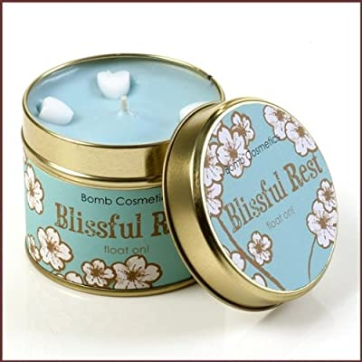 Bomb Cosmetics Scented Candle Tin Blissful Rest from Bomb Cosmetics
