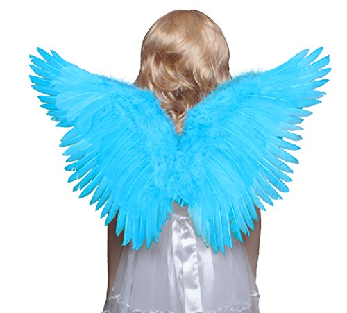 FashionWings (TM) Children's Blue Butterfly Style Costume Feather Angel Wings