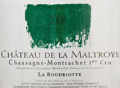 """2009 Chateau De La Maltroye """"La Boudriotte,"""" Chassagne-Montrachet 1Er Cru 750 Ml"""