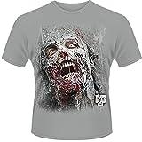 Plastic Head Men's Walking Dead The Jumbo Walker Face Banded Collar Short Sleeve T-Shirt
