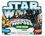 Star Wars Galactic Heroes 2010 Luke Jedi Knight & Darth Vader
