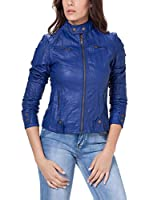Tantra Chaqueta Solid with Zipper and Pockets (Azul Oscuro)