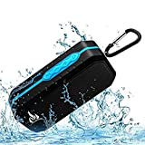 Bluetooth Wireless Speakers Waterproof IPX5 with HD Enhanced Bass Outdoor Wireless Portable Phone Speakers Built-in Mic Support FM AUX TF Card USB for iPhone iPad Android Phones Computer Etc. (Blue) (Color: Blue)