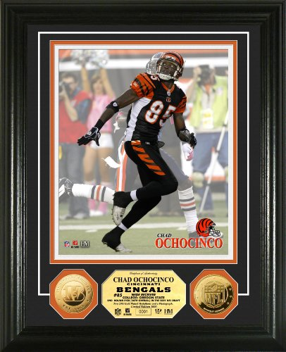 Highland Mint NFL Cincinnati Bengals Chad Ochocinco 24KT Gold Coin Photomint