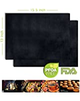 """#1 Oven Liner Mat - Non Stick Reusable High Quality Heat Resistant Oven Liner and Grill Mat - 15.5""""X13"""" Stops Food From Falling Through the Cracks - a Great Baking Mat - Keeps Steaks Much More Juicy!"""