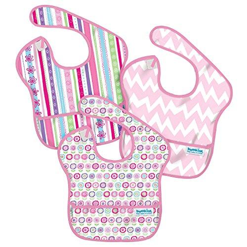 バンキンス スーパービブ/スタイ3点セット【日本正規品】洗濯機でも洗える お食事用防水ビブ 6~24ヶ月 Girl Assorted S3-G8