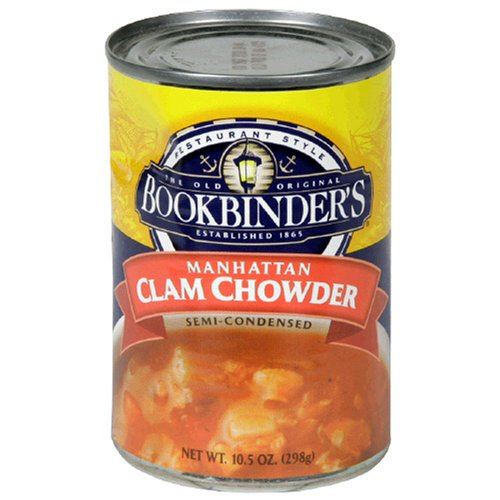 Bookbinders Manhattan Clam Chowder, 10.5-Ounce Cans (Pack of 12)
