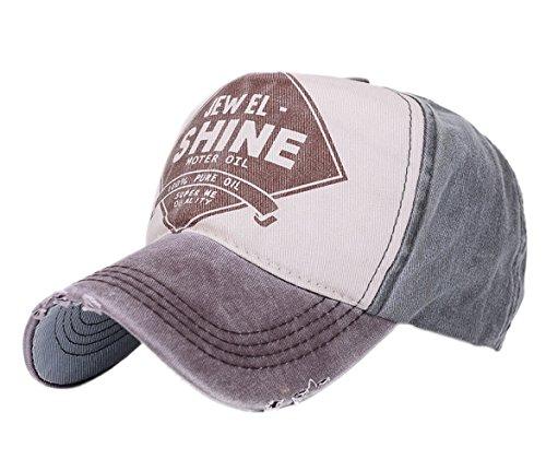 Orien Outdoor Summer Hunting Trekking Camping Letter Cotton Baseball Cap Hat(Brown)