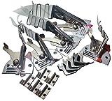 業務用 ミシンアタッチメント 四つ折り バインダー(カノコラッパ)A10 5サイズ セット 針板 押え 送り歯 付 バイアス テープ