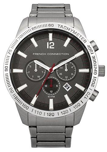 French Connection FC1236BSM - Reloj para hombres, correa de acero inoxidable color plateado