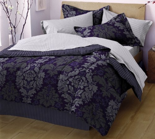 West Point Home Evans Bed In A Bag, Plum, Twin