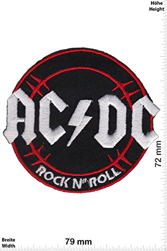 Patch - ACDC - AC DC - Rock n' Roll - Musica - AC DC - AC DC- toppa - applicazione - Ricamato termo-adesivo - Patch""