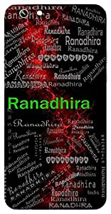 Ranadhira (Patient In Battle) Name & Sign Printed All over customize & Personalized!! Protective back cover for your Smart Phone : Moto G2 ( 2nd Gen )
