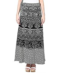 Soundarya Womens Cotton Long Wrap Skirt(RS6001, 38, White)