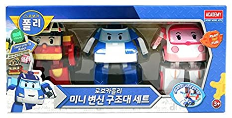 MINI Robocar Poli transformable rescue team set (Poli Amber Roy) by Robocar Poli