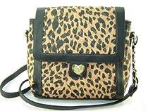 Betsey Johnson Turnlock Crossbody Handbag Cheetah Print