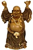 5160FD1zN%2BL. SL160  Great Gift Idea for Him Guy Man Husband Dad   14 Large Japanese Prosperity Buddha Statue in Faux Bronze Finish