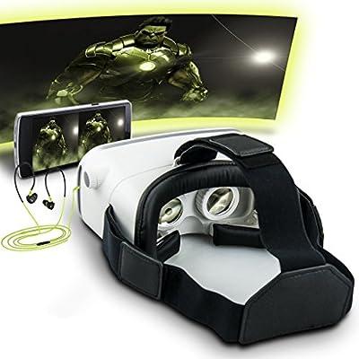 GP 3DVR ゴーグル 3Dメガネ スマホゴーグル素晴らしい3D体験・お手軽な3Dゴーグルで遊べ!3DVR 超3D映像効果 現実虚構 3D動画VR体験メガネ調節可能な焦点/瞳孔距離4- 6インチのスマートフォンiPhone 6Plus 6 Samsung  なとに適用 GoogleDIY ビデオ 映画ゲーム ヘッドマウント用 ヘッドバンド付き ホワイト