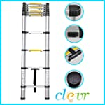 12.5 Ft Aluminum Telescopic Ladder Te...