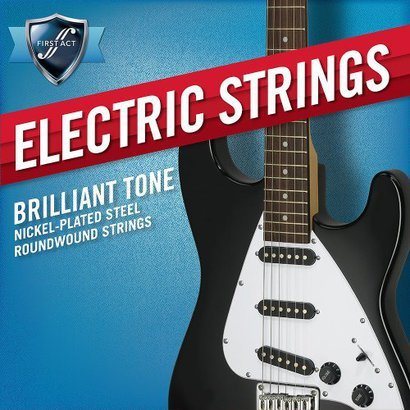 First Act Electric Guitar Strings Extra Light Gauge .009-.042