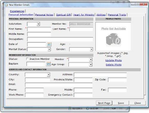 Church Management Software Professional System; Church Facilities, Office, Bookkeeping and Finances Administration Software; Windows Only CD-ROM; Multiuser License (100,000 Members) – 5 User Licenses