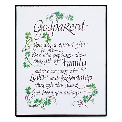 LPG Greetings Irish God Parent Decor, Green/White/Black - 1