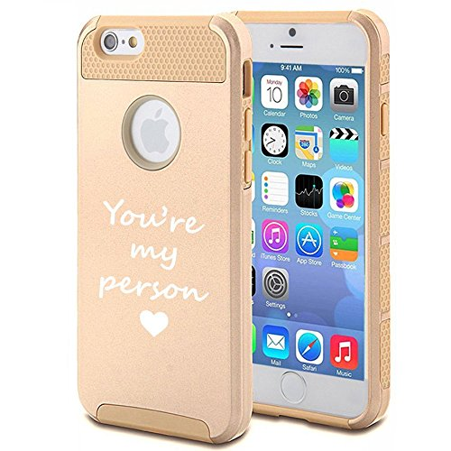 Apple iPhone 6 Plus 6s Plus Shockproof Impact Hard Soft Case Cover You're My Person (Gold) (My Person Phone Case compare prices)