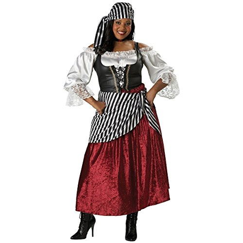 [GSG Pirate's Wench Costume Adult Womens High Quality Halloween Fancy Dress] (High Priest Zombie Costumes)