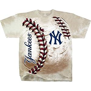 Buy Liquid Blue - MLB New York Yankees Hardball Tie-Dye T-Shirt by Life is Good