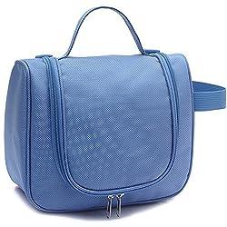 EvanaTM Toiletry Kit Travel Cosmetic Organizer Unisex Toiletry Bag Kit (Blue)
