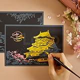 [ラゴ デザイン] スクラッチ ポストカード チェリーブロッサム Scratch Postcard Cherry Blossom