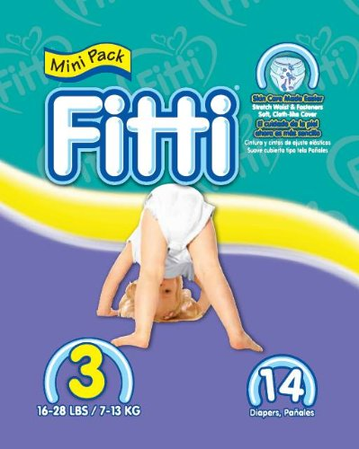 Fitti Baby Diapers, Size 3, 14 Count (Pack of 12)