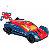 The Flyer's Bay RC Turbo Racer Car - Red Royal Blue (Spiderman) 1:24 Scale Detailed Turbo RC Car (Spiderman 2...