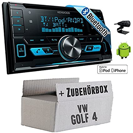 VW Golf 4 IV - Kenwood DPX-X5000BT - 2DIN Bluetooth USB Autoradio - Einbauset